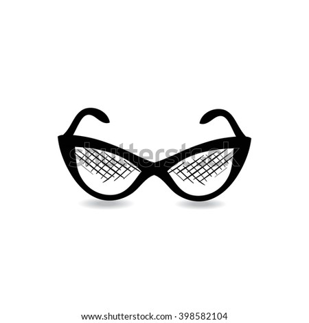 Vector illustration of sunglasses. Icon for your design