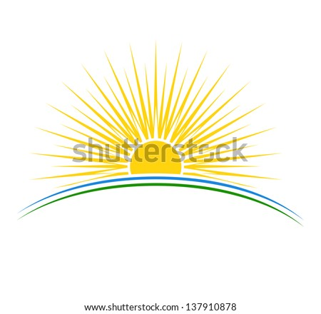 Vector illustration of sunrise sun