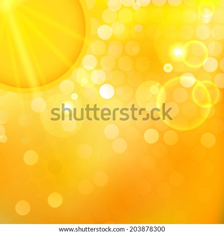 Vector illustration of sunset. - stock vector