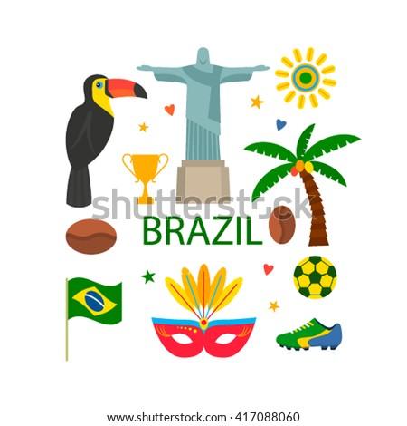 Vector illustration of symbol of Brazil.  Vector illustration - stock vector