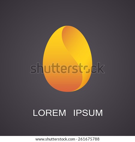 Vector illustration of symbolic images eggs - stock vector