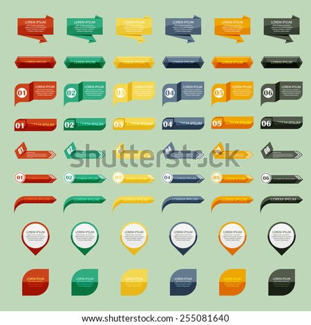 Vector illustration of tablets and pointers - stock vector
