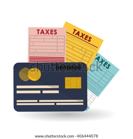Vector illustration of Taxes , editable icon