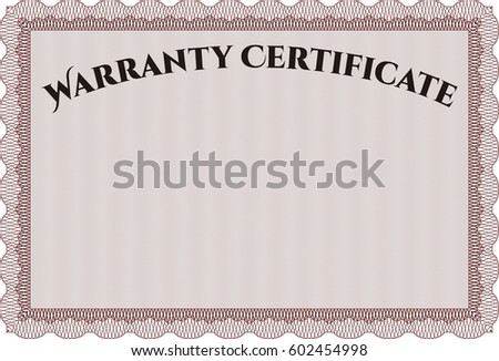Vector Illustration of Template Warranty certificate
