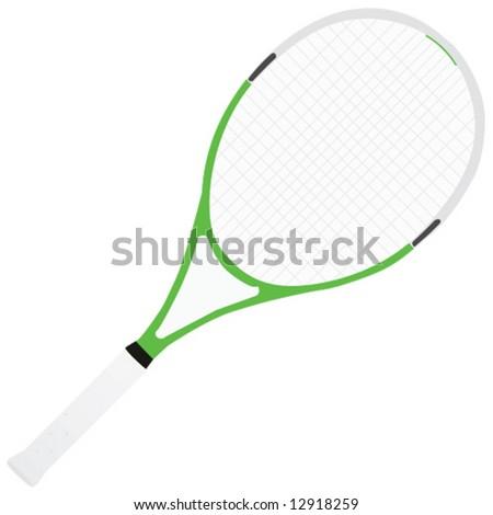 Vector illustration of tennis racket - stock vector