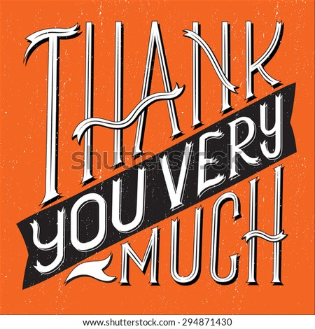 Vector illustration of Thank You Very Much typography with square shape. - stock vector