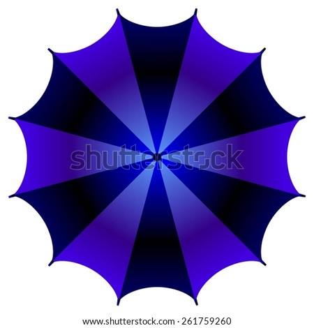 Vector illustration of The Blue Umbrella. - stock vector