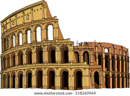 Vector illustration of the Colosseum