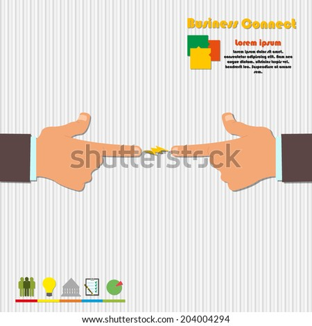 vector illustration of the concept of modern joint business. infographics. - stock vector