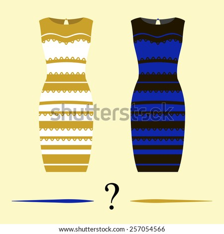 stock vector vector illustration of the dress black and blue or white and gold internet meme 257054566 vector illustration dress black blue white stock vector 257054566