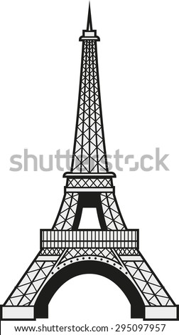 Vector illustration of the Eiffel Tower in Paris, France