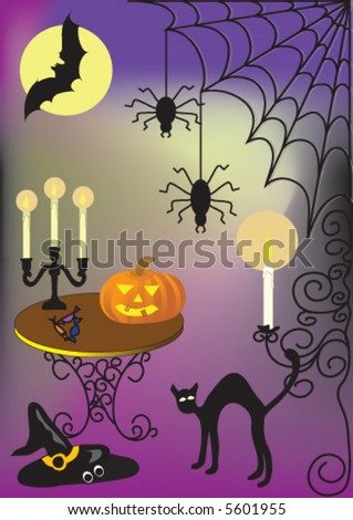 vector illustration of the halloween