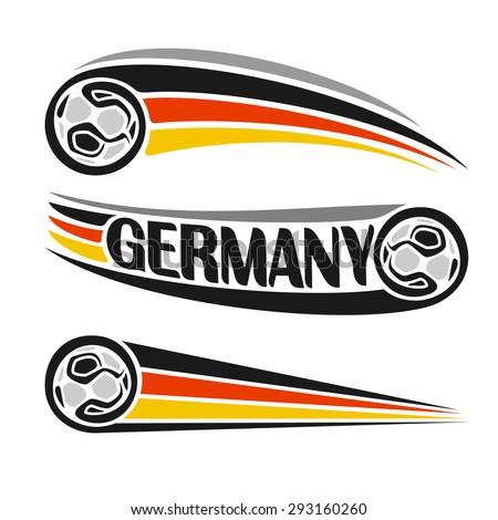 Vector Illustration Logo German Football Consisting Stock Vector