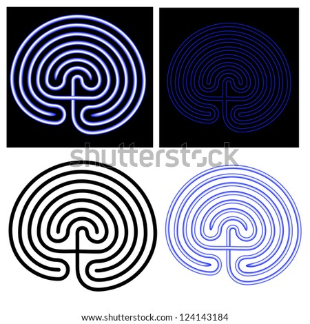 vector illustration of the maze - labyrinth - stock vector