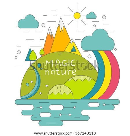 water cycle poster nature infographics flat stock vector 162965747 rh shutterstock com Water Cycle Animation Water Cycle Cartoon