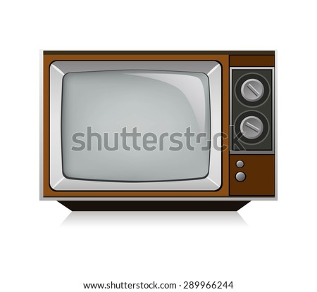 Vector illustration of the old TV.