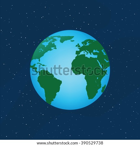 vector illustration of the planet earth - stock vector
