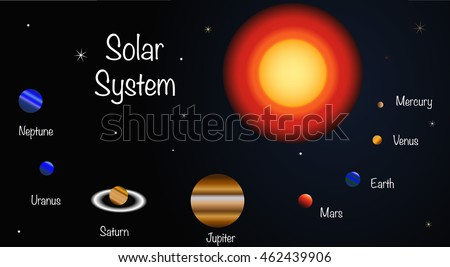 Vector Illustration Planets Our Solar System Stock Vector Hd