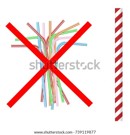No drinking straw stock images royalty free images for Plastic straw art