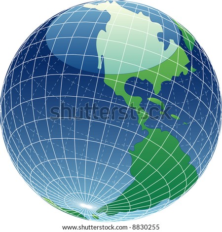 vector illustration of the shiny globe - stock vector