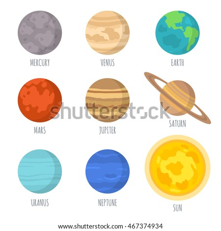 Solar system and planet clipart 8 planets  Clipartix