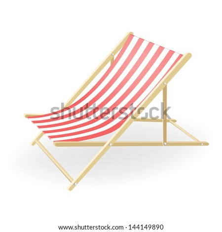 Vector illustration of the striped sunchair