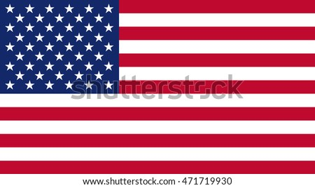 Vector illustration of the USA flag.