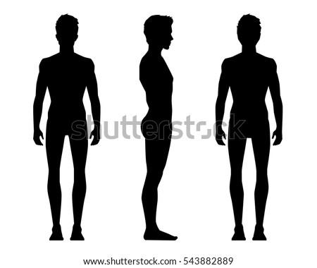 standing man silhouette side view wwwpixsharkcom