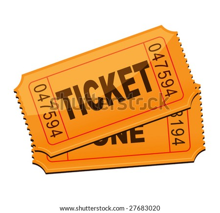 vector illustration of ticket - stock vector
