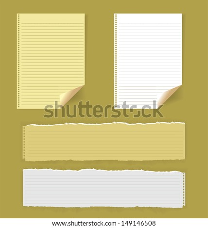 vector illustration of torn paper - stock vector