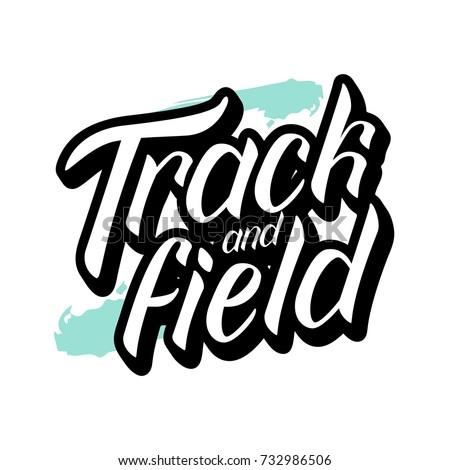 vector illustration track field text sport stock photo photo rh shutterstock com free track and field clipart track and field shoe clipart