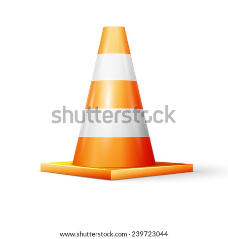 Vector illustration of traffic cone, excellent vector illustration - stock vector