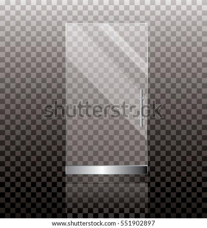 White Glass Door Texture