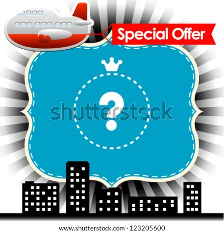 Vector illustration of transport with special offer sign - stock vector