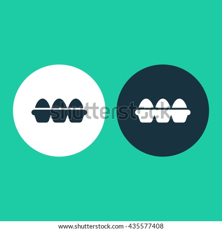 Vector illustration of tray of eggs icon - stock vector