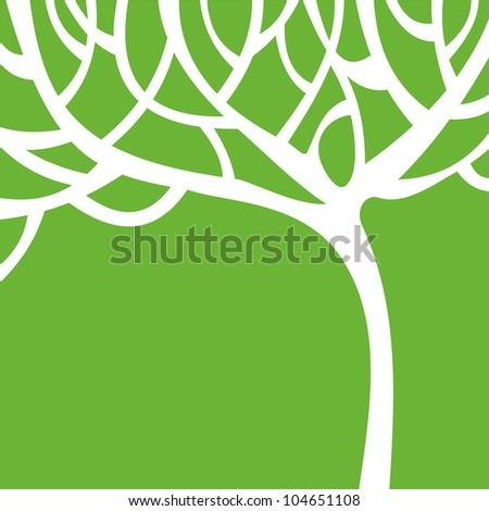 Vector illustration of tree - stock vector