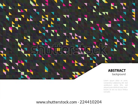 Vector illustration of Triangle background