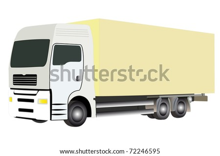 vector illustration of truck under the white background