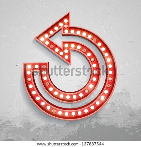 Vector illustration of turn sign lamps. Elements are layered separately in vector file. - stock vector