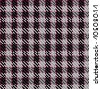 Vector illustration of tweed or tartan check fabric with seamless repeat background pattern - stock vector