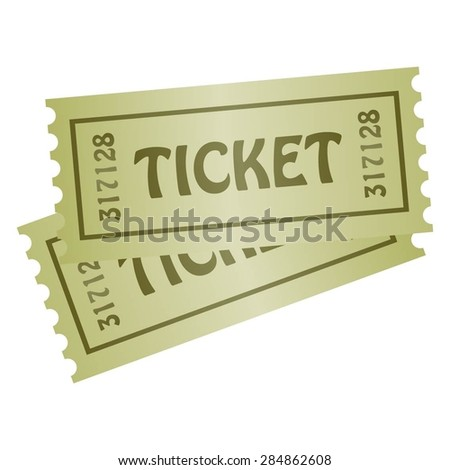 Vector illustration of Two tickets. - stock vector