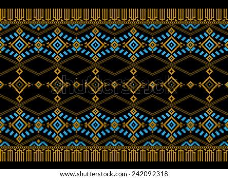 Vector illustration of ukrainian folk seamless pattern ornament. Ethnic ornament. Border element. - stock vector