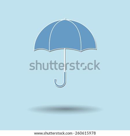 Vector illustration of  Umbrella color background. - stock vector