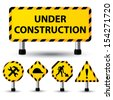 vector illustration of under construction sign - stock