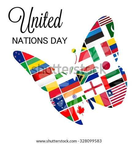 Vector illustration of United Nations Day Background.