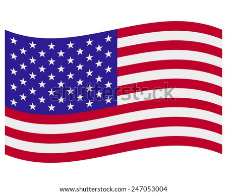 Vector illustration of united states flag  - stock vector