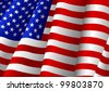Vector illustration of USA flag - stock vector