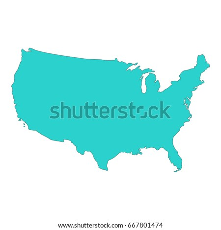 Blank Blue Unites State Map Vector Stock Vector - Free us map vector