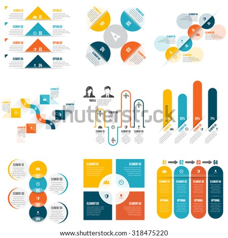 Vector illustration of various mix of infographic design elements. - stock vector