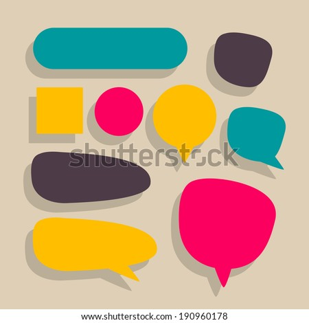 Vector Illustration of Various Speech Balloons - stock vector